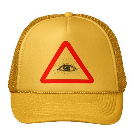 chapeau de panneau d'avertissement d'illuminati casquettes