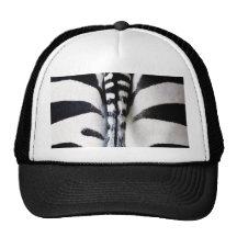 Chapeau de queue de zèbre/casquette noirs et blanc