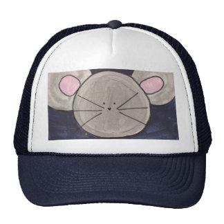 Chapeau de souris d'aquarelle casquette