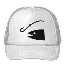 Chapeau de symbole de pêche casquettes