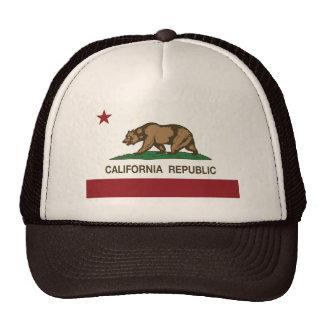 Chapeau d'ours gris de République de la Californie Casquettes