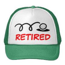 Chapeau drôle de golf pour les hommes retirés casquettes