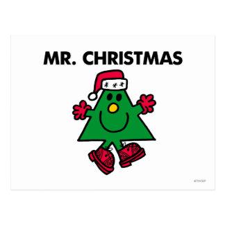 Chapeau et gants de fête de M. Christmas | Carte Postale