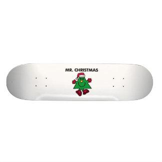 Chapeau et gants de fête de M. Christmas | Skateboards Personnalisables