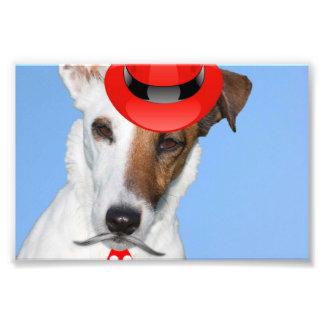 Chapeau funy de cravate de moustache de mode rouge photographies d'art
