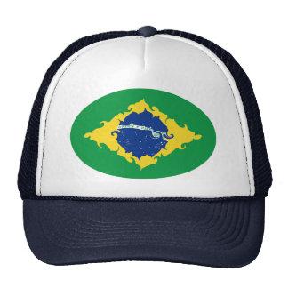 Chapeau Gnarly de drapeau du Brésil Casquette De Camionneur