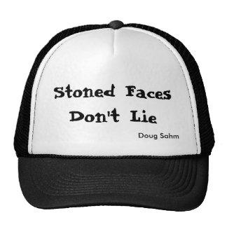 Chapeau lapidé de visages casquette