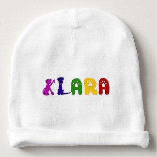 Chapeau mignon de bébé avec le nom de Klara Bonnet De Bébé
