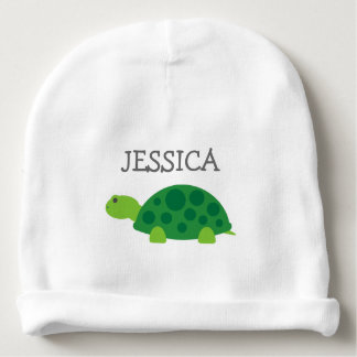 Chapeau mignon de calotte de bébé de tortue verte bonnet de bébé