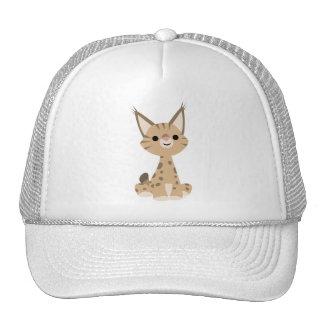 Chapeau mignon de Lynx de bande dessinée Casquette Trucker