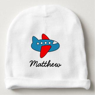 Chapeau mignon personnalisé de bébé d'avion de bonnet de bébé