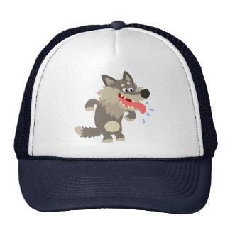 Chapeau mort de faim mignon de loup de bande dessi casquettes