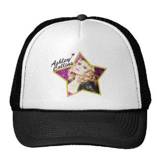Chapeau noir et blanc d'étoile d'Ashley Collins Casquette Trucker