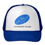 Chapeau personnalisable de forme physique - bleu casquette de camionneur