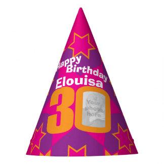 chapeau personnalisé 30ème par anniversaire de