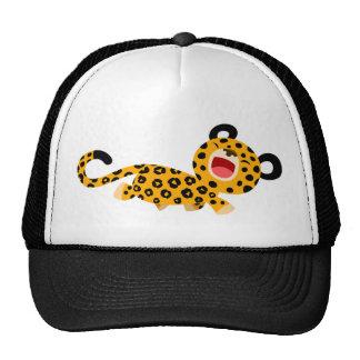 Chapeau plaisant de léopard de bande dessinée mign casquettes de camionneur