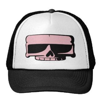 Chapeau rose de crâne casquettes de camionneur