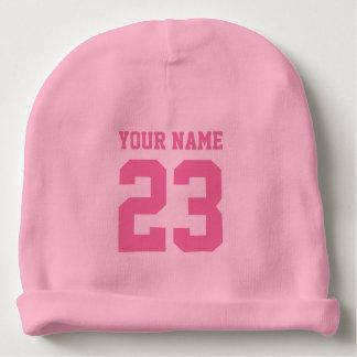 Chapeau rose fait sur commande de calotte de bébé bonnet de bébé