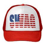 Chapeau rouge de camionneur de Snapback de maille  Casquettes