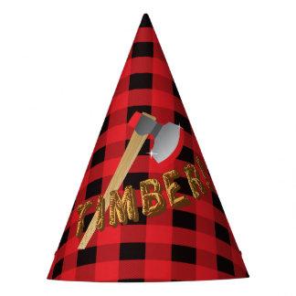 Chapeau rouge de fête d'anniversaire de plaid de