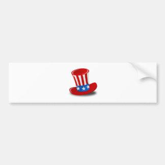 Chapeau supérieur d Oncle Sam rouge blanc et Autocollants Pour Voiture