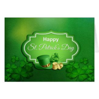 Chapeau supérieur du jour de St Patrick et pièces Carte De Vœux