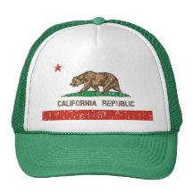 Chapeau vintage de camionneur de drapeau d'état de casquette