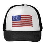 Chapeau vintage de drapeau américain casquettes de camionneur