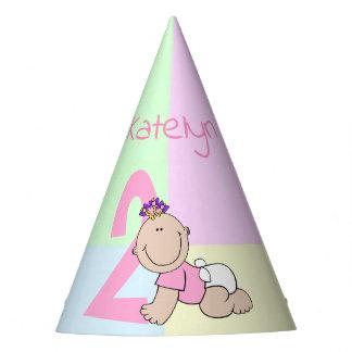 Chapeaux De Fètes 2ème anniversaire de bébé mignon de bande dessinée