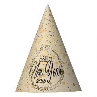 Chapeaux De Fètes Années de confettis d'or nouvelles