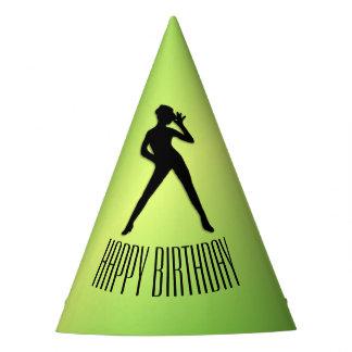 Chapeaux De Fètes Anniversaire de vert de danse moderne joyeux