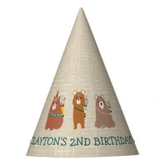 Chapeaux De Fètes Anniversaire d'ours d'amusement de Beary