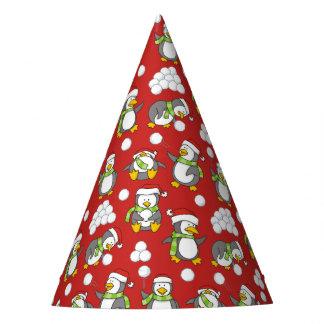 Chapeaux De Fètes Arrière - plan de pingouins de Noël