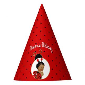 Chapeaux De Fètes Bébé d'Afro-américain de coccinelle rouge et noir