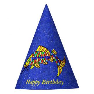 Chapeaux De Fètes Bleu coloré de fête lumineux de regard d'étincelle