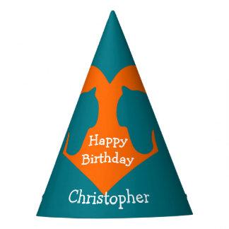 Chapeaux De Fètes Bleu et cheval personnalisé par orange