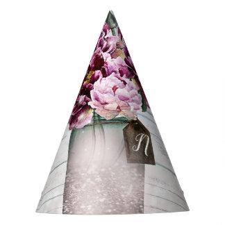 Chapeaux De Fètes Bois de charme et fleurs rustiques de pot de maçon