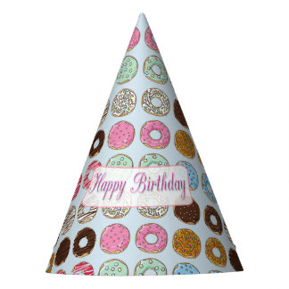 Chapeaux De Fètes Butées toriques rose de joyeux anniversaire et