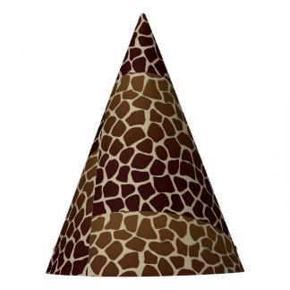 Chapeaux De Fètes Casquette de partie d'impression de girafe