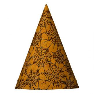 Chapeaux De Fètes Casquette grunge orange et noir de Halloween de