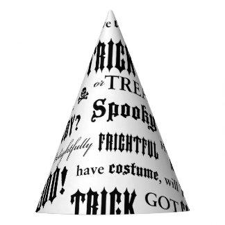 Chapeaux De Fètes Casquette noir et blanc de partie de mots