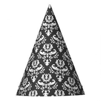 Chapeaux De Fètes Casquette noir et blanc élégant de partie de