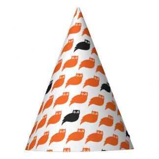 Chapeaux De Fètes Casquette noir et orange de partie de hiboux