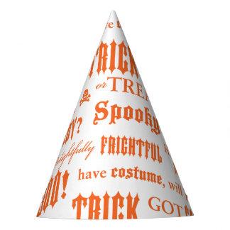 Chapeaux De Fètes Casquette orange de partie de mots de Halloween