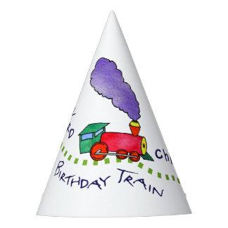 Chapeaux De Fètes Casquettes à tous à bord du train d'anniversaire