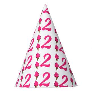 Chapeaux De Fètes De filles crème glacée de rose de fête