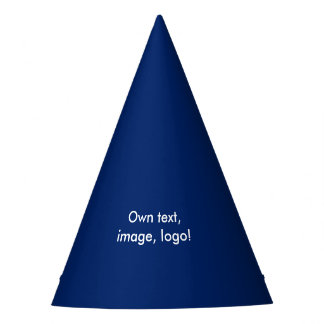 Chapeaux De Fètes De partie de casquette bleu uni