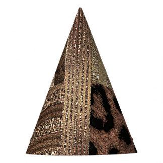 Chapeaux De Fètes Étincelle moderne fascinante d'or de jungle de