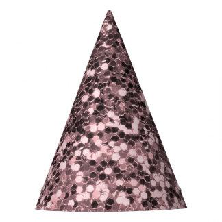 Chapeaux De Fètes Étincelles roses de parties scintillantes de Faux