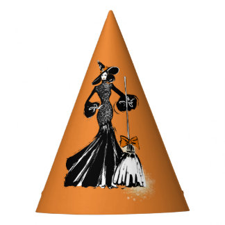 Chapeaux De Fètes fashionillustration de Halloween avec un balai
